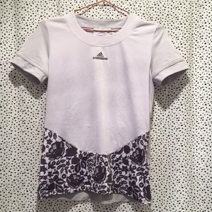 Adidas Stella McCartney s floral cut out back top